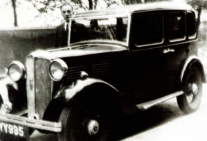 Susan Elkin's grandfather, William Hillyer, with his 1935 Standard Nine in 1950. Thefamily went on several Dorset holiday trips in this car