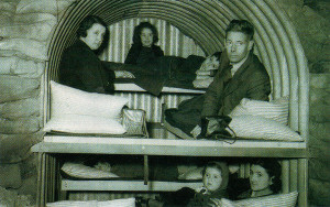 It was surprising how many could fit into an air-raid shelter!