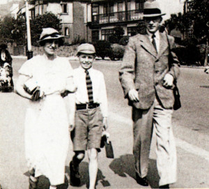 Peter Pitt and his parents on their way to the beach at Leigh-on-Sea in 1936. The picture was taken by a street photographer.