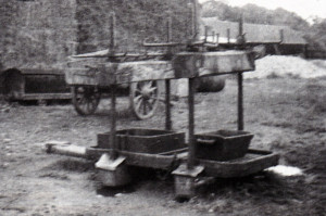 This is the kind of cider press that was used in the old days.