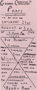 Put it up in lights! This is the endearingly-scribbled wartime programme for one of James Skinner's concept parties - a surprising variety of acts for one young lad!