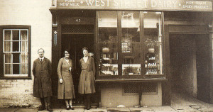 Remember that wonderful fresh, clean smell when you walked into an old time dairy shop? The staff line up proudly outside the West Street Dairy