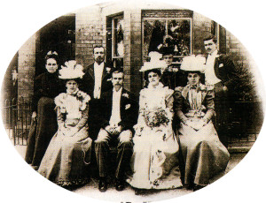 The wedding of Dr. Hawkins' parents on August 10 1899