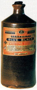 Remember how most of the ink we once used at school was knoum as blue-black? This splendid container of Stephens' Blue Black uniting fluid serves as a timely reminder.