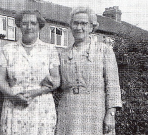 The two mothers in happier times, 20 years after the City of Benares tragedy, with Mrs. Baker on the right.