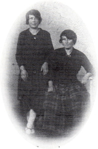 The writer's paternal grandmother (seated) and a cousin.