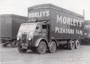 The eight-wheel Foden  and Scammell tractor of Morley's Pleasure Fair were typical of the vehicles that visited Northenden.