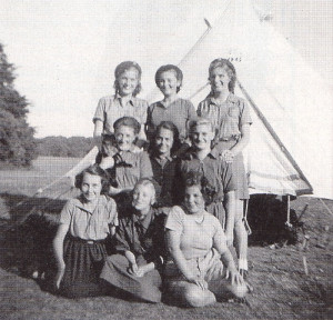 The Girl Guide camp at Finchdean in August, 1950.