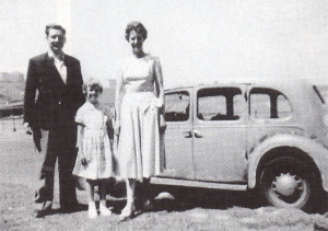 A trip to Scarborough in the old Austin, COH 74, in 1957.