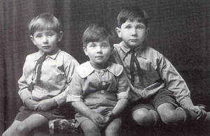 Happy days — these three fine-looking boys are (from left) Hamish, David and John Symon.