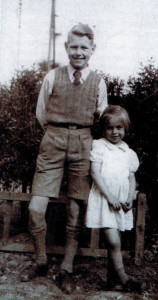 Grant, aged 13, and his sister Jill (4), in 1947 back in Rotherham.