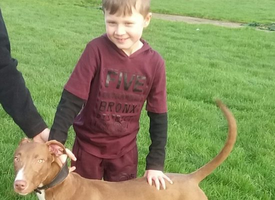 Mason-Jay age 7 with his pup hunter