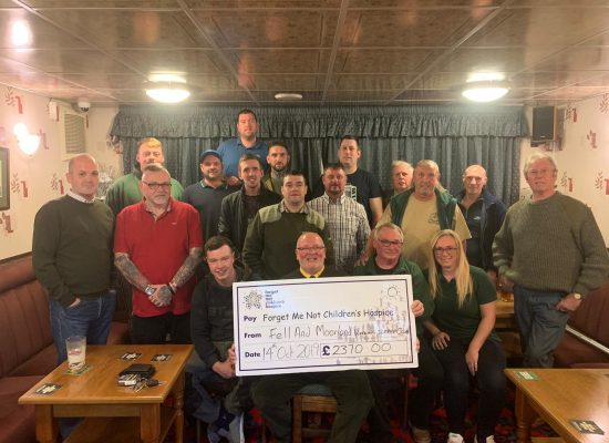 The fell and moorland working terrier club raised £2370 for the forget me not childrens hospice